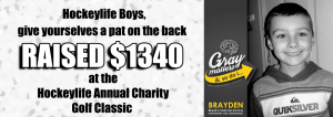 charity golf tournament raised